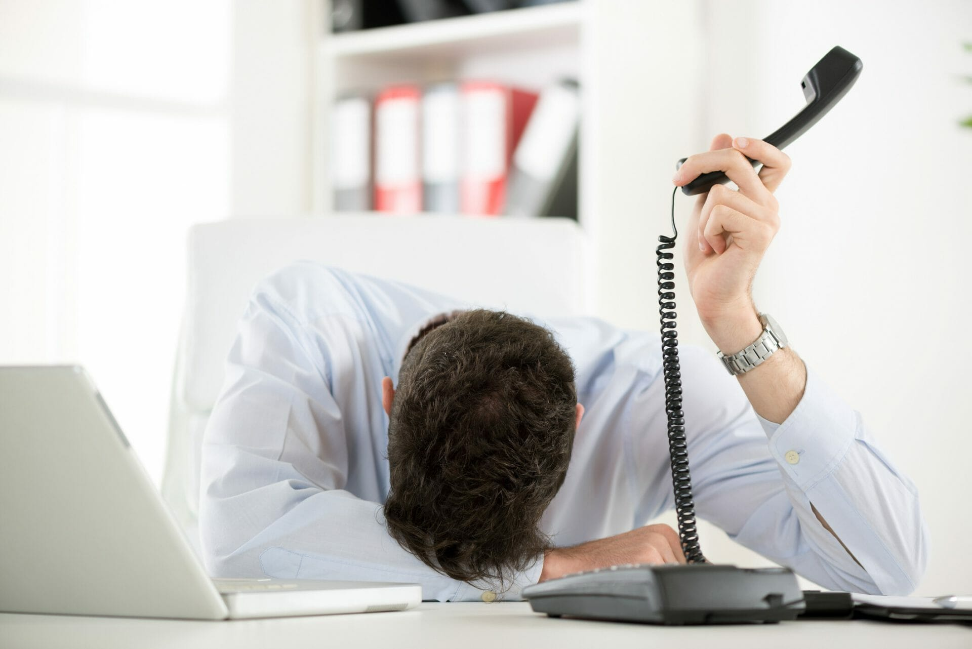 frustrated on hold