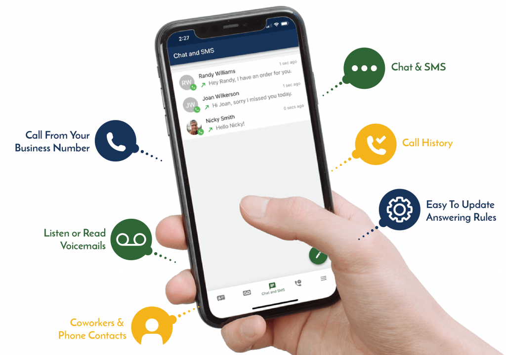 business phone app features